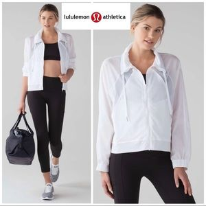 Lululemon In Depth Jacket In White